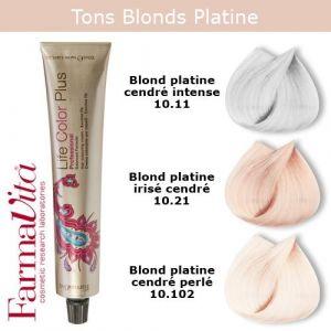 Coloration cheveux FarmaVita - Tons Blonds Platine cendrés Blond platine irisé cendré 10.21 (Cosmetics United Boutique, neuf)