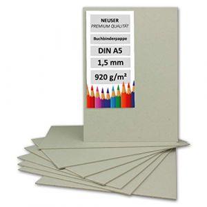 Livre Binder Carton DIN A5  Épaisseur 1,5mm   Grammage?: 920g/m²   Format?: 21x 14,8cm   couleur?: gris/marron (GUSTAV NEUSER GmbH, neuf)