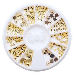 Holzsammlung 1 Boîte de Petit Strass Decoration Ongles Gel Tip Glitter rond Coloré en Résine pour Nail Art Manucure #33 (collecte de bois, neuf)
