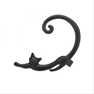 Épingles d'oreille manchette d'oreille punk rock animal chat boucles d'oreilles pour les femmes simple plaqué enveloppe d'oreille noir accessoiresnoir (Graceguoer, neuf)