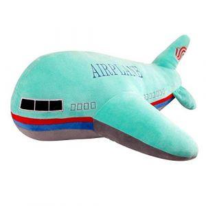 Peluche jouet avion oreiller poupée décoration de la maison enfants garçon cadeau d'anniversaire-Avion vert_40 cm (lizhaowei531045832, neuf)