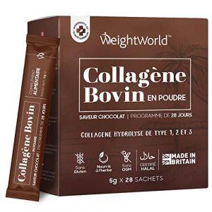 COLLAGENE BOVIN - Poudre de Peptide de Collagène Hydrolysé - Pur et Naturel - Qualité Premium - Performance Musculaire - Articulations - Peau - 200g - Sans Gluten - Sans Saveur -par WeightWorld (Comfort Click FR, neuf)