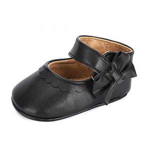 LACOFIA Ballerine Bébé Chaussure Premier Pas pour Bébé Fille Chaussures Bowknot Antidérapant Noir 6-12 Mois (Lacofia, neuf)