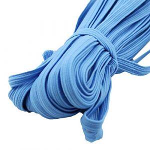 dljztrade Corde De Bande élastique De 33 Mètres Pour La Couture De Bracelet De Collier De Cahier De Bricolage Bleu clair (dljztrade, neuf)