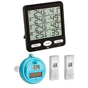 TFA Dostmann Climat Moniteur Plus TFA 30.3054 Plus Station Thermomètre Hygromètre avec piscine émetteur (Noir) (Wetterladen - Freizeit- und Sportartikel, neuf)