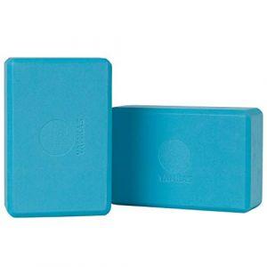 Yamkas Brique Yoga | Bloc de Yoga en Mousse EVA de Haute Densité | Yoga Block - Cube pour Pilates | Bleu (Mercurius Company B.V., neuf)