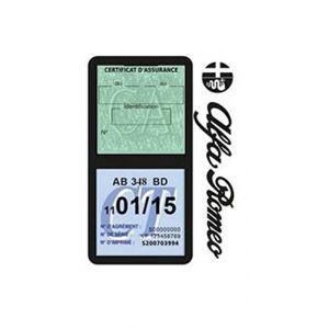 Générique Étui Double Assurance Alfa Roméo Noir Porte Vignette adhésif Voiture Stickers Auto Retro (Stickers-auto-retro, neuf)