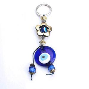 Coeur porte-clés verre voiture porte-clés fleur porte-clés pour femmes hommes bijoux 2 (Gendaje, neuf)
