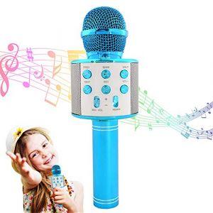 Microphone karaoké Bluetooth sans fil, microphone KTV pour enfants, micro sans fil pour machine à karaoké P, enregistrement de microphone karaoké à main (LuzComercio, neuf)