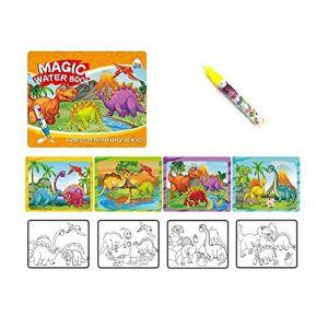 Sipobuy Livre de Dessin de l'eau Magique Coloriage de Livre d'eau à griffonner avec Un Stylo Magique Conseil de Peinture pour Enfants Éducation Dessin Jouet (Dinosaure) (OK Gift, neuf)