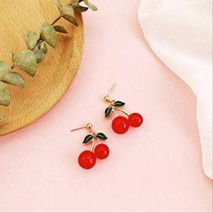 cadeaux boucles d'oreilles gland rouge perle boucles d'oreilles déclaration géométrique boucles d'oreilles cadeau boucle d'oreille vintage fleurs amour pour les femmes6 (Graceguoer, neuf)