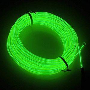 5M Flexible EL Fil Tube Néon Light Avec Contrôleur 3 Modes LED Lumière, Parti de Noel Fete Decoration Voiture Cuisine Exterieure (Vert) (San Jison, neuf)