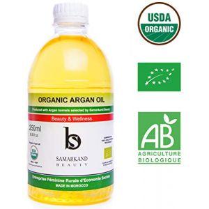 250 ml Huile d'Argan BIO 100% Pure de Première Pression à Froid pour Corps & Cheveux - L'original du Maroc (JAMONPRIVE, neuf)