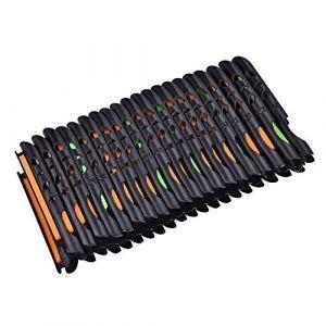 Ligne de Pêche Bobine Enrouleur Porte Planche Enroulement Support de Plaque, 40Pcs Pêche Portable Ligne Spooler Enrouleur Bobine Système Tackle Outils de Pêche pour Pêche Rod Tackle Accessoire (Youluu-cd, neuf)