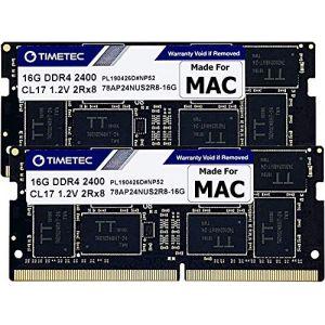 Timetec Hynix IC Apple kit de 32Go (2x 16Go) DDR42400MHz PC4-19200Mise à Niveau de mémoire SODIMM pour iMac Retina 4K/5K 54,6cm/68,6cm Mid 2017kit (32Go (2x 16Go)) (Timetec Inc Europe, neuf)
