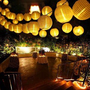 Qedertek Guirlande Solaire Extérieure 6M 30 LED Guirlande Lumineuse Lanterne Blanc Chaud Lumière Decorative pour Noël, Jardin, Mariage, Terrasse, Balcon (Blinked, neuf)