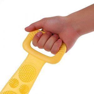 YIDIANIDAN Silicone dos épurateur doux Luffa serviette de bain brosse ceinture corps Massage exfoliant pour douche corps nettoyage salle de bain douche sangle (SUZHAOYANGshop, neuf)