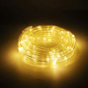 Salcar Guirlande Tube Lumineuse LED 10m, Solaire Tube Lumineux Extérieur Étanche, Lumières de corde pour Décoration Jardin, Noël, Mariage - Blanc Chaud (Salcar GmbH, neuf)