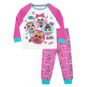 Lol Surprise - Ensemble De Pyjamas - Dolls - Fille - Multicolore - 7-8 Ans (Character FR, neuf)