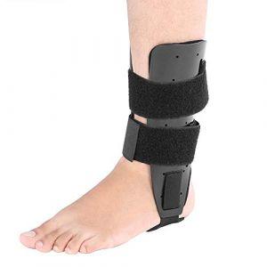 Attelle de cheville ajustable, protège-pied pour blessures aux crampes au pied et récupération de l'attelle (Rotekt, neuf)