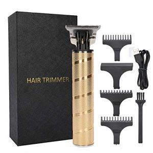 Tondeuse à cheveux électrique, tondeuse à cheveux professionnelle, tondeuse à lame en T hommes tondeuse à cheveux étanche Rechargeable sans fil outil de rasage de cheveux (runatyo, neuf)