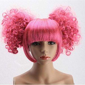 Perruque lady perruque perruque de vacances personnalité rouge noir perruque anime (petrichor87, neuf)