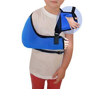 Écharpe bras/épaule - Poche profonde (Bleu Roi, 3-5 ans) Soutien Réhabilitation Ultra Confortable. ANTI-TRANSPIRANT, HYPOALLERGÉNIQUE. 4DflexiSPORT (Angel Med Direct, neuf)