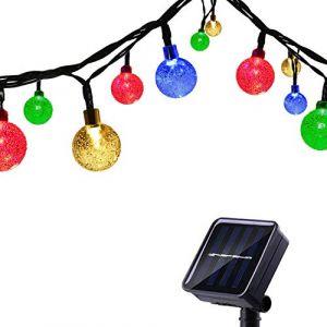 Tuokay Guirlande Solaire Extérieure avec Ballon, 6,5M 30 LED Guirlande Lumineuse Solaire Etanche, 8 modes d'éclairage Lampe Décoratives pour Jardin, Patio, Clôture, Anniversaire, Mariage (Multicolore) (Tukai Trading, neuf)