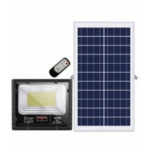 Projecteur extra plat LED Solaire Blanc Froid de 10W,25W,40W,60W,100W,200W au choix étanche (IP65) - 200W/8800Lms (SYSLED, neuf)