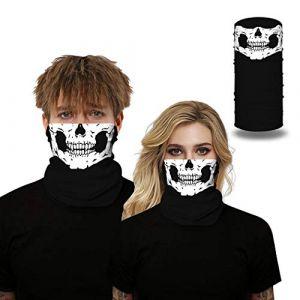 IYOU Cagoule de sport avec motif tête de mort - Noir - Multifonction - Pour homme et femme (Deeping, neuf)