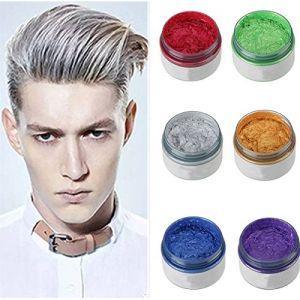 ILOVEDIY Cire Coiffante Cheveux Gel Colorant Cheveux Coloration Cheveux Temporaire pour Homme Femme (Blanc) (YWCTing, neuf)