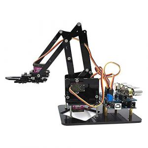 Dire-wolves Kit de Bras robotique 4-DOF Dancing Sloth Kit de Robot programmable Bricolage avec servo Arduino R3 4PCS pour Enfants et Adultes avec tutoriel (Dire-wolves, neuf)