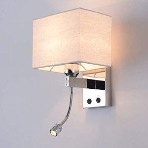Tête de lit Applique murale Chambre Lampe de lecture Moderne Salon Les murs Luminaire Avec interrupteur (zengfanjiang, neuf)