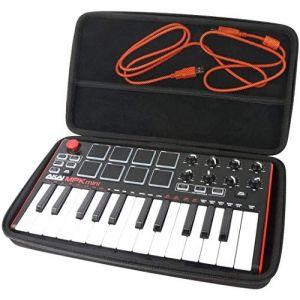 Khanka étui de Voyage Housse pour AKAI Pro MPK mini mkII Clavier Maître MIDI en EVA dur (Noir) (Khankastore-EU, neuf)