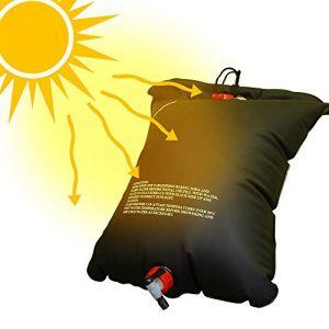 zhuhaihongyekuntai sac de douche en plein air sauvage portable épaississement bouteille d'eau chaude solaire 20l sac de bain sac de séchage sac de bain sac de baignade au soleil (zhuhaihongyekuntaiqichemaoyiyouxiangongsi, neuf)