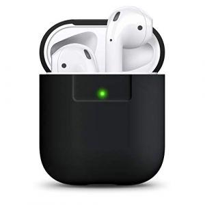 elago Étui Compatible avec Apple AirPods 1 & 2 (Témoin LED Non Visible) en Silicone Non-Toxique Anti-Rayures Plus de Protection - Noir (elago, neuf)