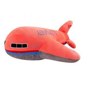 Peluche jouet avion enfant modèle poupée chiffon poupée garçon oreiller enfant cadeau d'anniversaire-rouge_65 cm (lizhaowei531045832, neuf)