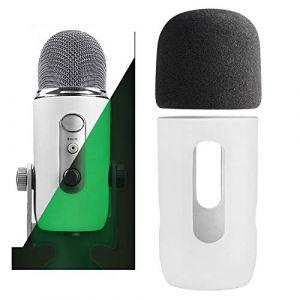 YOUSHARES Microphone Bonnette en Mousse à Blue Yeti, Yeti Pro pour Anti-Vent Pop Filtre, Protector for Blue Yeti, Yeti Pro Condenser Micro(VERT) (Heartorigin Direct, neuf)