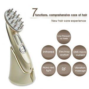 Anti-perte de cheveux peigne RF Infirmière LED Photon Laser Stimuler la repousse des cheveux brosse tête cuir chevelu réparation Massager cheveux (DeKang Shop, neuf)