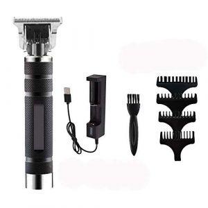 Tondeuse à cheveux pour homme professionnel Tondeuse à cheveux barbe avec guide peignes brosse brosse câble USB (LUBIN, neuf)