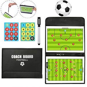 LaceDaisy Professional Football/Entraîneur de Football Tableau magnétique Stratégie gagnante Conseil Tableau Tactique avec Magnétique, Marqueur et Gomme (ChuanStore, neuf)