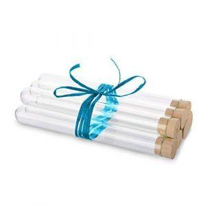 Tuuters 10 Éprouvettes en verre avec des bouchons en liège naturel | Tubes à essai | Paroi épaisse ? (160 x Ø16 mm) (Tuuters, neuf)