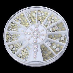 Holzsammlung 1 Boîte de Petit Strass Decoration Ongles Gel Tip Glitter rond Coloré en Résine pour Nail Art Manucure #52 (collecte de bois, neuf)