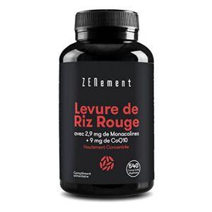 Levure de Riz Rouge concentrée avec 10 mg de Monacoline K et Coenzyme Q10, 180 Gélules | Contrôle les niveaux de cholestérol sanguin | 100% Vegan, non-GMO, sans additifs, sans gluten | de Zenement (Bitio Brands, neuf)