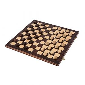 Square - Jeux Dames en Bois - Damier 100 Cases - 40 x 40cm (SQUARE GAME, neuf)