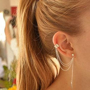 FXmimor Boucle d'oreille manchette en argent bohème manchette cadeau pour elle (Deniferymakeup, neuf)