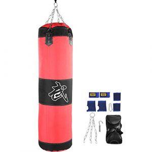 Sac de boxe, 7 + 1 entra?nement vide Crochet de boxe Kick Sandbag Fight Karaté Punch Gants pour sac de sable - non remplis(1# 1.2M) (runatyo, neuf)