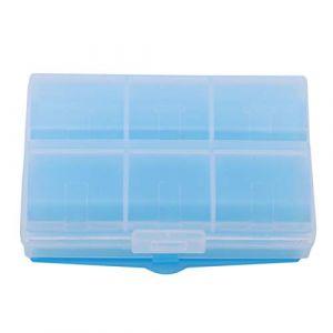 VWH Mini Travel Tablet Médecine Double Couche 6 Compartiments Distributeur Etui Boîte Conteneur de Médicaments Stockage (bleu) (Yiwu City Yingwei E-Commerce co Ltd, neuf)