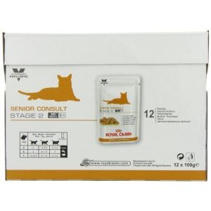 """Royal Canin Vet Care Nutrition Feline Senior Consult Stage-2 Wet Food """"48 x 100 g Pouches"""" by Royal Canin (Petgamma CV, neuf)"""