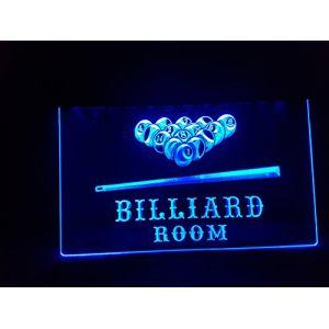 Billiard Room/piscine lumineux Enseigne Panneau neuf LED chargement Publicité Fluo Neon Bar Disco Billard (Safedealmore, neuf)